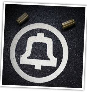 AT&T logo with bullet shells.